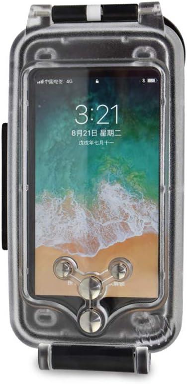 Cover impermeabile per iPhone 6/6s nera, custodia da immersione fino a 130 piedi/40 metri sott'acqua, resiste alla neve agli urti allo sporco ...