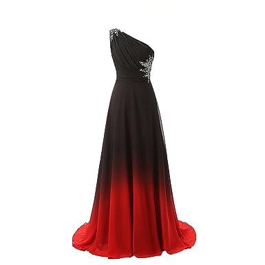 aab71269154cf OBEEII Femmes Robe Longue Demoiselle d honneur Dégradé Couleur sans Manches  Mousseline Elegante Habillee pour