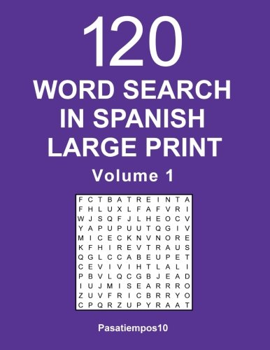 Word Search in Spanish Large Print - Volume 1 (Spanish Edition)
