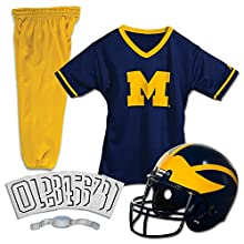 Franklin Sports NCAA Michigan Wolverines Deluxe Youth Team Uniform Set, Small