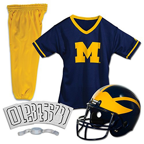 Franklin Sports NCAA Michigan Wolverines Deluxe Youth Team Uniform Set, Medium