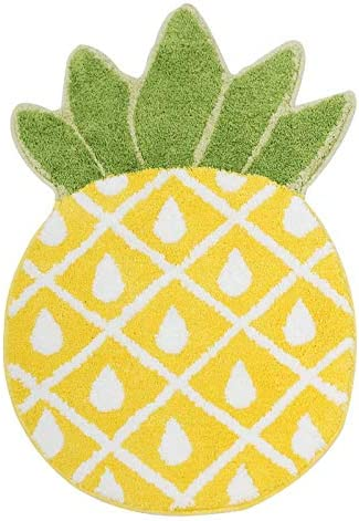 Pineapple Door Mat, Non-Slip Area Rug for Home Decor, Pineapple Welcome Rug for Living Room Bedroom Bathroom Rug Mashine Washable Carpets, 32.7×19.3in