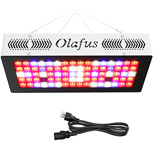 Olafus 300W Full Spectrum LED Grow Light for Indoor Plants, 3 Lighting Modes Grow Lights (Veg, Bloom, Veg+Bloom), IR UV LED Plant Growing Lamp for Hydroponic Veg, Flower, Fruit, Bonsai