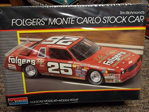 Tim Richard's Folgers Monte Carlo Stock Car 1/24 Scale Model Plastic Kit (25 Nascar Kit)