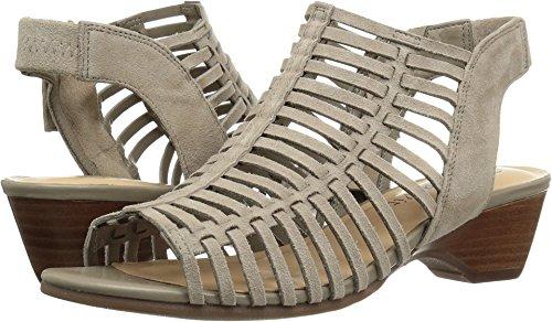 Bella Vita Women's Pacey Wedge Sandal, Stone Kid Suede, 6.5 W US