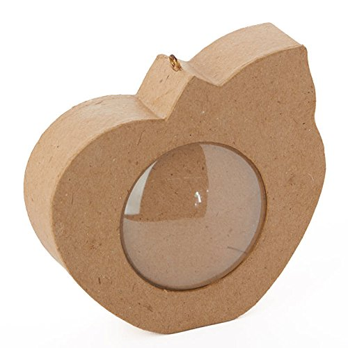 Group of 3 Ready To Decorate Apple Shaped Paper Mache Boxes With Clear Dome (Dcc Paper Mache)