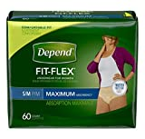 Depend MAXIMUM Absorbency Small and Medium Underwear for Women - 60 Count