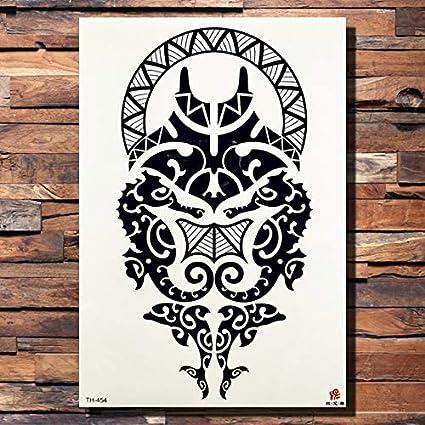 lijinjin Etiqueta Engomada del Tatuaje Temporal Totem Negro Tribal ...