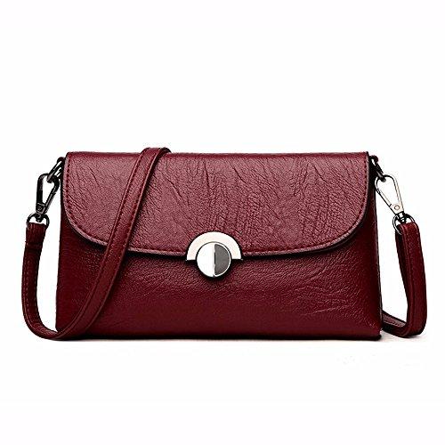 Soft Bag Bolso Hombro Leather para rojo de Crossbody Moda Mujer Bolso de CCZUIML Rojo pxqvFaa