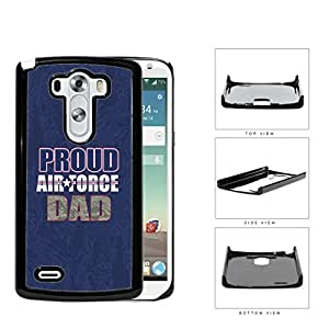Proud Air Force DAD Navy Blue Camo Background LG G3 VS985 Hard Snap on Plastic Cell Phone Case Cover