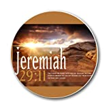 Jeremiah 29:11 Bible Verse Round Mousepad Mouse Pad Great Gift Idea