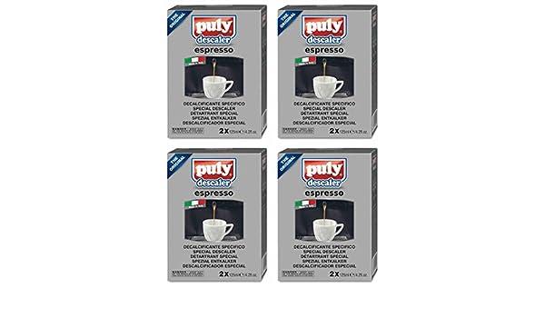 asachimici Puly descalcificador para máquinas de café Espresso para - 8 viales, 4.2 onzas líquidas (125 ml) cada [importación italiana]: Amazon.es: Hogar