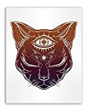 Occult Tattoo Prints - Set of 6 Alchemy Witch Devil