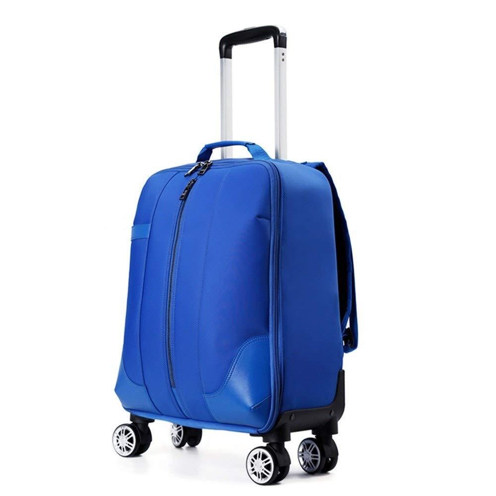 ZHANGQIANG ハンドトラベル荷物トロリーケース 荷物国際キャリー拡張可能なトロリーフロントポケットハードケーススピナースーツケース (色 : 青, サイズ さいず : 38*23*55cm) B07RZS43XV 青 38*23*55cm