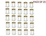 4 oz hexagon glass jars - 4oz Hexagon Glass Jars 25 pack (25, 4oz)