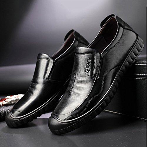 Negro Feidaeu de Hombre Material Sintético Zapatos wP1gOTqF