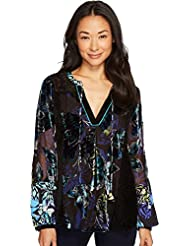Hale Bob Womens Take Wing Velvet Burnout Top