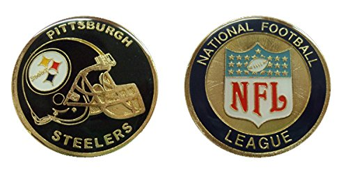 Collectible Challenge Coin- Logo Poker- Lucky Chip for Steelers