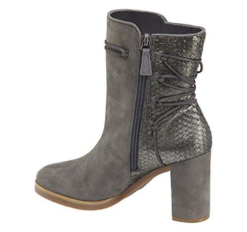 Johnston & Murphy Womens Adley Suede Almond Toe Ankle Fashion, Grey, Size 8.5 Johnston & Murphy Suede Heels
