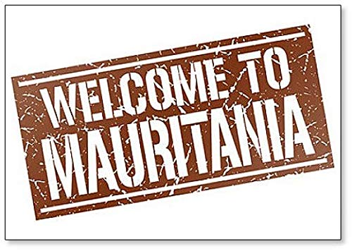Welcome to Mauritania Stamp Illustration Fridge Magnet