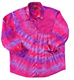 Fuchsia Tie Dye Oxford Shirt - XL