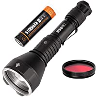 ACEBEAM W30 Tactical Flashlight Torch - 2633 Yards Long Throw, 6500K, With Long-lasting Rechargeable Battery, Excellent Hunting Flashlight Include a Red Filter