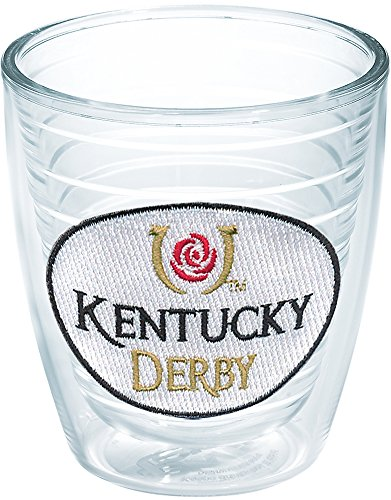 - Tervis 1037643 Kentucky Derby Logo Insulated Tumbler with Emblem, 12oz, Clear