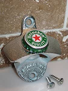 Heineken Quality Beer Bottle Cap Starr X Wall Mount Opener