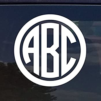Amazoncom CUSTOM VINE MONOGRAM INITIALS VINYL DECAL BUMPER - Custom vinyl stickers for cars