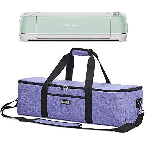 HOMEST Lightweight Carrying Case Compatible with Cricut Explore Air 2, Cricut Maker, Cricut Explore Air, Purple (Patent Pending) ()