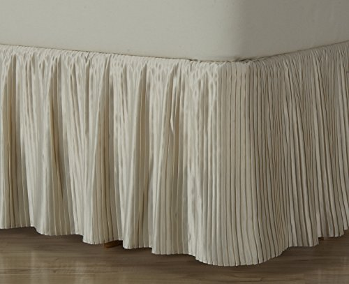 D. Kwitman & Son Hyde Park Dust Ruffle 18'' Drop Bed Skirt, Queen, Ivory by D. Kwitman & Son
