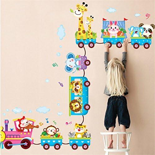 Adesivo da parete per bambini treni della giungla motivo Woneart