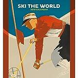 Ski the World 2018 Wall Calendar