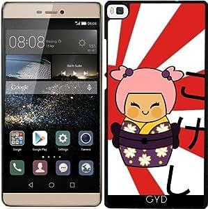 Funda para Huawei Ascend P8 - Ayame Kokeshi by Los dibujos de Alapapaju
