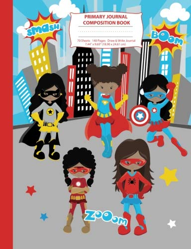 Search : Primary Journal Composition Book: Black Superhero Girls Composition Notebook with Picture Space, Superhero Notebook for School, African American Black ... Primary Story Journal Notebooks) (Volume 1)