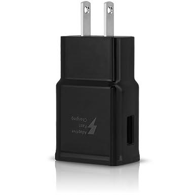 Cargador Rápido Adaptativo Original Compatible con Samsung Galaxy S8 S9 S10 Note8 Note9 Telefonos - [Cargador de Pared + Cable Type C de 4 Pies] - ...