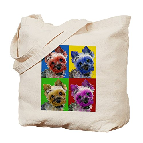 CafePress Yorkie Natural Canvas Shopping
