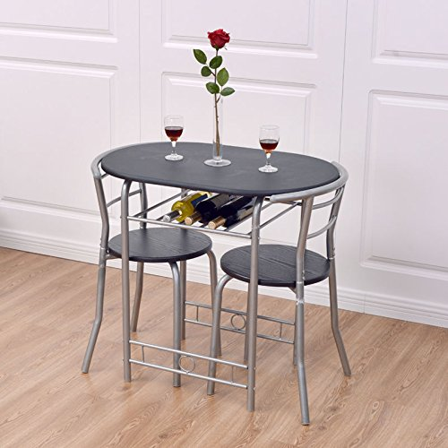 Giantex 3 PCS Bistro Dining Set Table And 2 Chairs Kitchen