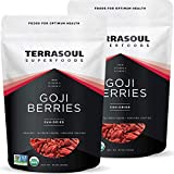 Terrasoul Superfoods Organic Goji Berries, 2 Lbs (2 pack) - Large Size | Chewy Texture | Premium Quality