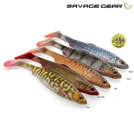 Savage Gear 4D Perch Shad Swimbait Gummifisch zum Hechtangeln Hechtköder