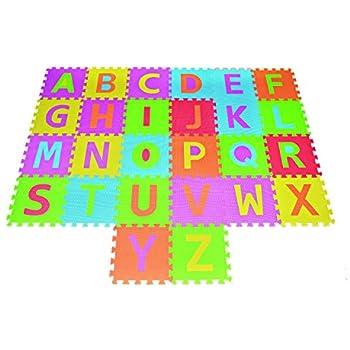 Amazon.com : Alphabet Puzzle ABC Play Mat 26 Tiles EVA Foam Kids ...
