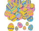 500 Easter Egg Foam Sticker Shapes For Kids Crafts   Childrens Spring Crafts