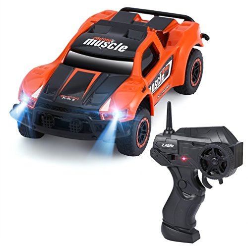 YKS Remote Cotrol Car 1:43 Scale 4WD Off-road Sport Rally Car Racing Car for Kids Children Gift Toy Orange