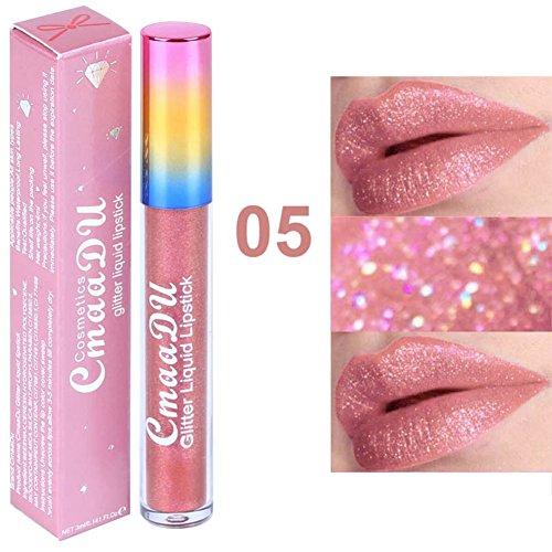 High Shine Liquid Lipstick - Diamond Glitter Matte Liquid Lipstick Sparkly Shimmer Long-lasting Lip Gloss