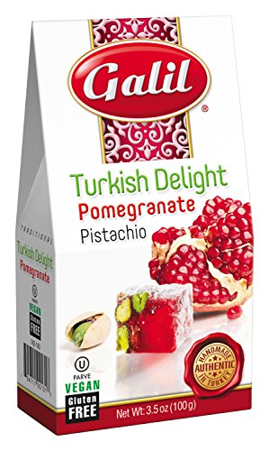 Galil Pomegranate/Pistachio Turkish Delight, 3.5 Ounce (Pack of (Pistachio Fudge)