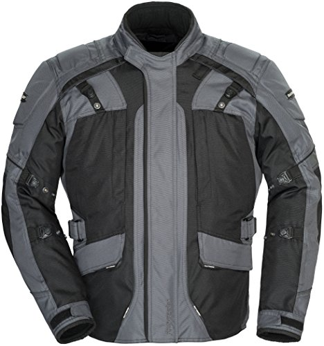 Tourmaster Transition Series 4 Men's Textile Motorcycle Touring Jacket (Gun Metal/Black, X-Large)
