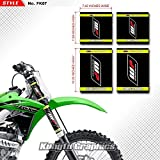 Kungfu Graphics WP Upper Mid Fork Tube Decal Kit