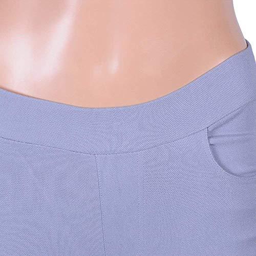 color Da Hellgrau Elasticizzati Donna Hx Con Elastico Fashion A Bassa Pantaloni Ragazza Size Leggins Vita 3xl Chic In EqA6AZ
