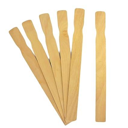 Amazoncom 21 Paint Stick 50 Pieces Wooden Paint Paddle Stir