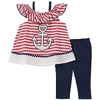 Kids Headquarters Baby Girls Tunic Set-Sleeveless, red/White/Blue, 12M